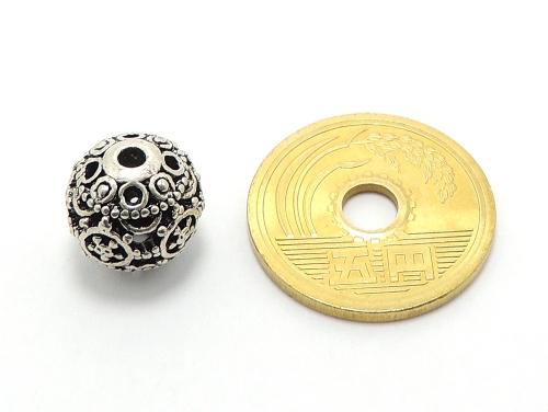 アジアン・エスニックビーズ粒売り チベット合金12ミリ 魔除・厄除 ハンドメイド・手作りアクセサリー用 (11546)