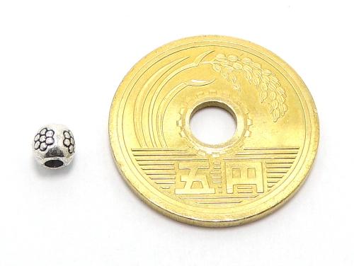 アジアン・エスニックビーズ粒売り チベット合金4ミリ 魔除・厄除 ハンドメイド・手作りアクセサリー用 (11547)