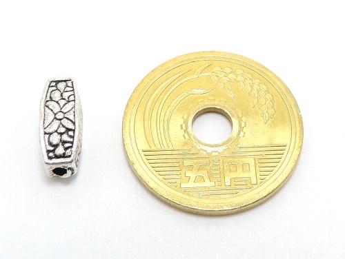 アジアン・エスニックビーズ粒売り チベット合金角柱12ミリ 魔除・厄除 ハンドメイド・手作りアクセサリー用 (11558)