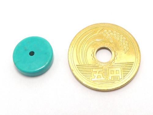 アジアン・エスニックパワーストーン天然石ビーズ粒売り ハウライトターコイズ(ブルー)AAAAボタン12ミリ 魔除・厄除 ハンドメイド・手作りアクセサリー用 (11566)