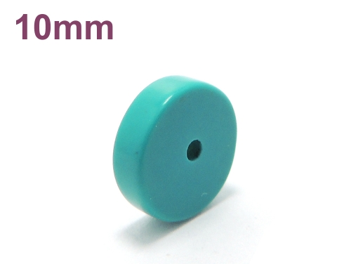 アジアン・エスニックパワーストーン天然石ビーズ粒売り ハウライトターコイズ(ブルー)AAAAボタン10ミリ 魔除・厄除 ハンドメイド・手作りアクセサリー用 (11567)