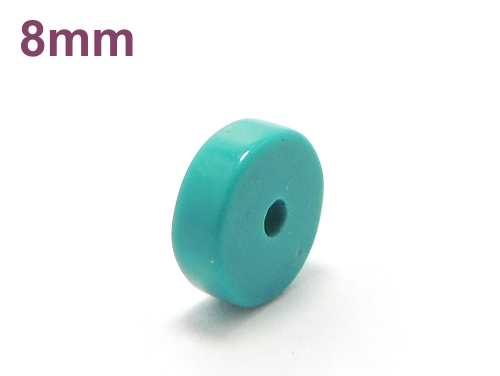 アジアン・エスニックパワーストーン天然石ビーズ粒売り ハウライトターコイズ(ブルー)AAAAボタン8ミリ 魔除・厄除 ハンドメイド・手作りアクセサリー用 (11568)
