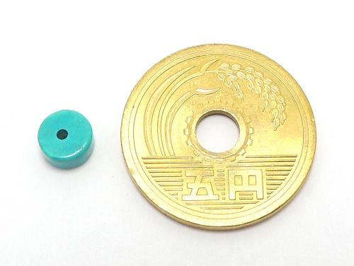 アジアン・エスニックパワーストーン天然石ビーズ粒売り ハウライトターコイズ(ブルー)AAAAボタン6ミリ 魔除・厄除 ハンドメイド・手作りアクセサリー用 (11569)
