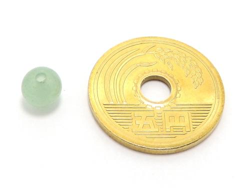 パワーストーン天然石ビーズ粒売り グリーンアベンチュリンAAA(5月誕生日石)6ミリ 健康・癒し ハンドメイド・手作りアクセサリー用 (11580)