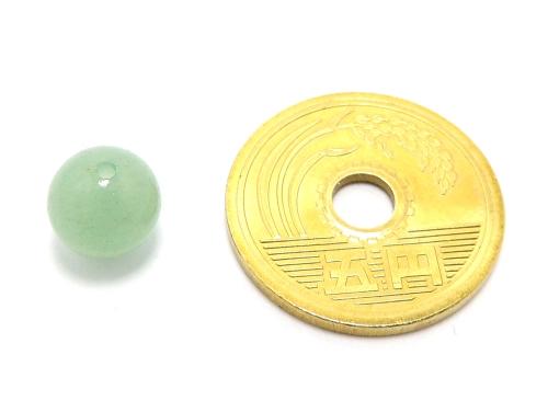 パワーストーン天然石ビーズ粒売り グリーンアベンチュリンAAA(5月誕生石)8ミリ 健康・癒し ハンドメイド・手作りアクセサリー用 (11581)