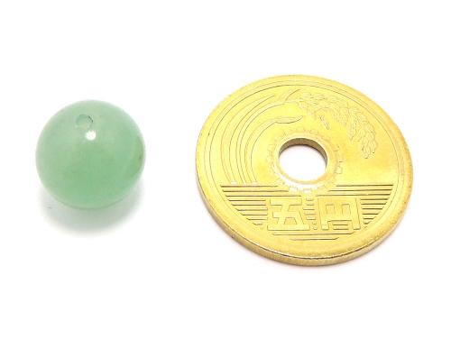 パワーストーン天然石ビーズ粒売り グリーンアベンチュリンAAA(5月誕生日石)10ミリ 健康・癒し ハンドメイド・手作りアクセサリー用 (11582)