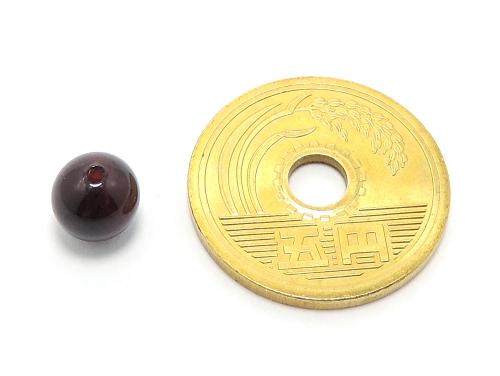パワーストーン天然石ビーズ粒売り ガーネットAAA(1月誕生日石)6ミリ 金運 ハンドメイド・手作りアクセサリー用 (11583)