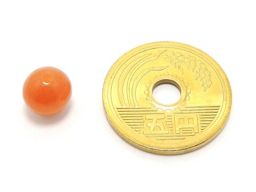 パワーストーン天然石ビーズ粒売り オレンジアベンチュリンAAA(5月誕生石)8ミリ 仕事運 ハンドメイド・手作りアクセサリー用 (11588)