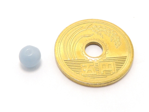 パワーストーン天然石ビーズ粒売り エンジェライトAAAA6ミリ 対人関係 ハンドメイド・手作りアクセサリー用 (11593)