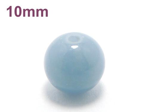 パワーストーン天然石ビーズ粒売り エンジェライトAAAA10ミリ 対人関係 ハンドメイド・手作りアクセサリー用 (11595)