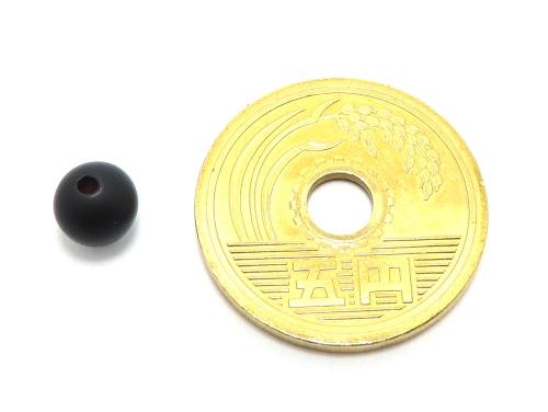 パワーストーン天然石ビーズ粒売り オニキス(つや消し)AAAA(8月誕生日石)6ミリ 仕事運 ハンドメイド・手作りアクセサリー用 (11596)