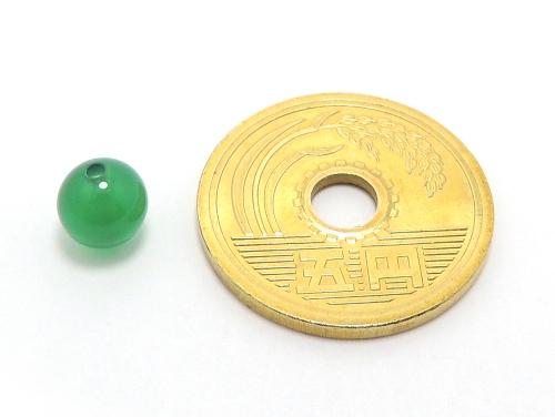 パワーストーン天然石ビーズ粒売り グリーンカルセドニーAAAA6ミリ 対人関係 ハンドメイド・手作りアクセサリー用 (11604)