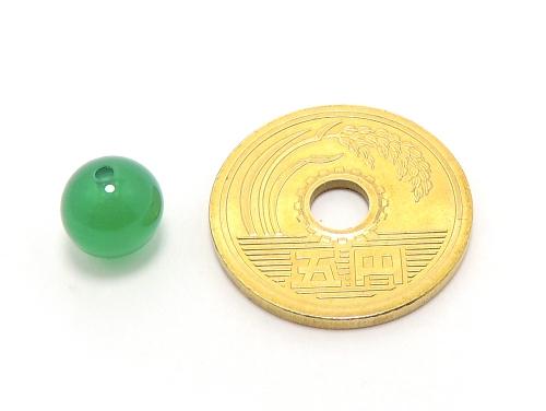 パワーストーン天然石ビーズ粒売り グリーンカルセドニーAAAA8ミリ 対人関係 ハンドメイド・手作りアクセサリー用 (11605)