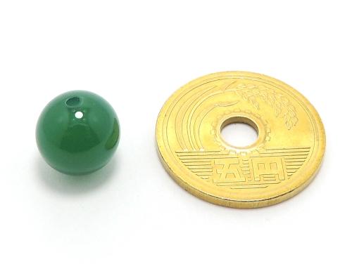 パワーストーン天然石ビーズ粒売り グリーンカルセドニーAAAA10ミリ 対人関係 ハンドメイド・手作りアクセサリー用 (11606)