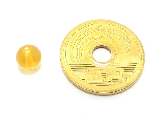 パワーストーン天然石ビーズ粒売り シトリンクォーツAAA(11月誕生日石)6ミリ 金運 ハンドメイド・手作りアクセサリー用 (11613)