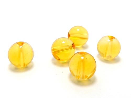 パワーストーン天然石ビーズ粒売り シトリンクォーツAAA(11月誕生石)8ミリ 金運 ハンドメイド・手作りアクセサリー用 (11614)