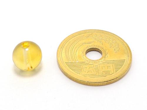 パワーストーン天然石ビーズ粒売り シトリンクォーツAAA(11月誕生日石)8ミリ 金運 ハンドメイド・手作りアクセサリー用 (11614)