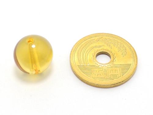 パワーストーン天然石ビーズ粒売り シトリンクォーツAAA(11月誕生石)12ミリ 金運 ハンドメイド・手作りアクセサリー用 (11616)