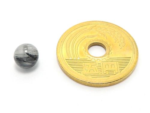パワーストーン天然石ビーズ粒売り ブラックトルマリンクォーツAAA6ミリ 仕事運 ハンドメイド・手作りアクセサリー用 (11617)
