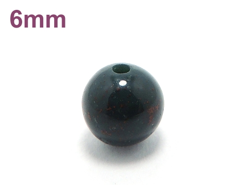 パワーストーン天然石ビーズ粒売り ブラッドストーンAAAA(3月誕生石)6ミリ 魔除・厄除 ハンドメイド・手作りアクセサリー用 (11620)