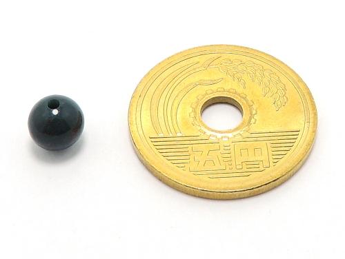パワーストーン天然石ビーズ粒売り ブラッドストーンAAAA(3月誕生日石)6ミリ 魔除・厄除 ハンドメイド・手作りアクセサリー用 (11620)