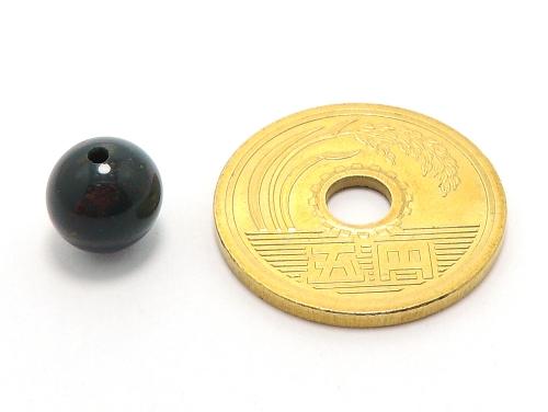 パワーストーン天然石ビーズ粒売り ブラッドストーンAAAA(3月誕生石)8ミリ 魔除・厄除 ハンドメイド・手作りアクセサリー用 (11621)