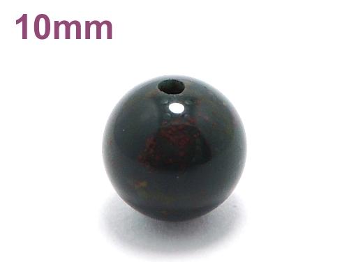 パワーストーン天然石ビーズ粒売り ブラッドストーンAAAA(3月誕生石)10ミリ 魔除・厄除 ハンドメイド・手作りアクセサリー用 (11622)