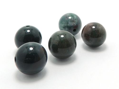 パワーストーン天然石ビーズ粒売り ブラッドストーンAAAA(3月誕生日石)12ミリ 魔除・厄除 ハンドメイド・手作りアクセサリー用 (11623)
