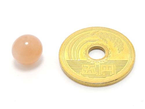 パワーストーン天然石ビーズ粒売り オレンジムーンストーンAAAA(6月誕生日石)8ミリ 対人関係 ハンドメイド・手作りアクセサリー用 (11627)