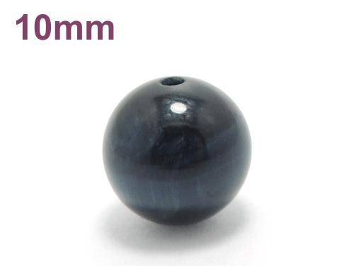 パワーストーン天然石ビーズ粒売り ブルータイガーアイAAAA(10月誕生石)10ミリ 金運 ハンドメイド・手作りアクセサリー用 (11630)