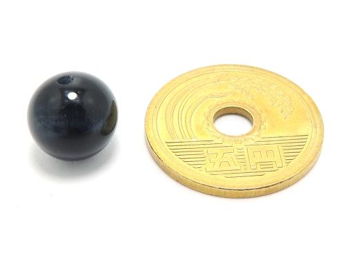 パワーストーン天然石ビーズ粒売り ブルータイガーアイAAAA(10月誕生日石)10ミリ 金運 ハンドメイド・手作りアクセサリー用 (11630)