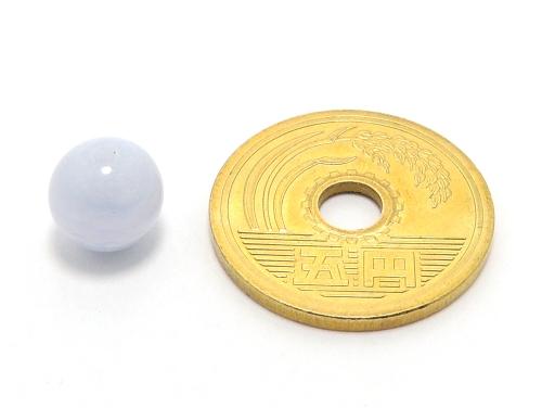 パワーストーン天然石ビーズ粒売り ブルーレースアゲートAAAA8ミリ 魔除・厄除 ハンドメイド・手作りアクセサリー用 (11631)