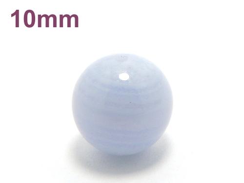 パワーストーン天然石ビーズ粒売り ブルーレースアゲートAAAA10ミリ 魔除・厄除 ハンドメイド・手作りアクセサリー用 (11632)