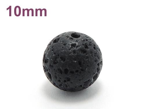 パワーストーン天然石ビーズ粒売り ラバーストーン(溶岩石)AAAA10ミリ 対人関係 ハンドメイド・手作りアクセサリー用 (11636)