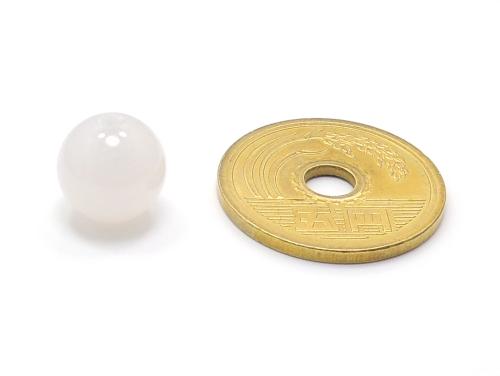 パワーストーン天然石ビーズ粒売り ホワイトカルセドニーAAAA(6月誕生日石)10ミリ 対人関係 ハンドメイド・手作りアクセサリー用 (11639)