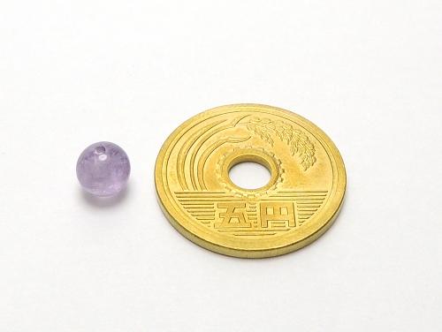 パワーストーン天然石ビーズ粒売り ラベンダーアメジストAAAA(2月誕生石)6ミリ 復縁・恋愛運 ハンドメイド・手作りアクセサリー用 (11641)