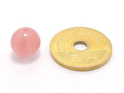パワーストーン天然石ビーズ粒売り チェリークォーツ(人工石)10ミリ ハンドメイド・手作りアクセサリー用 (11642)