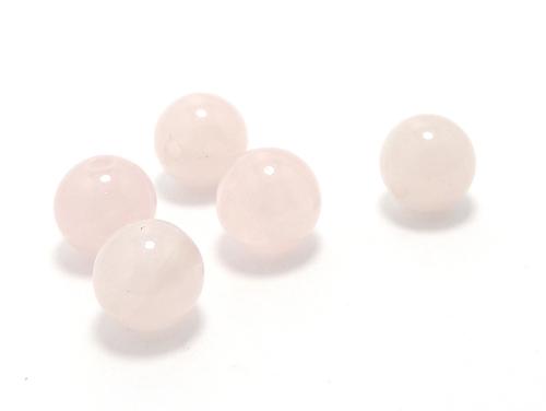 パワーストーン天然石ビーズ粒売り ローズクォーツAAA(10月誕生石)8ミリ 復縁・恋愛運 ハンドメイド・手作りアクセサリー用 (11643)