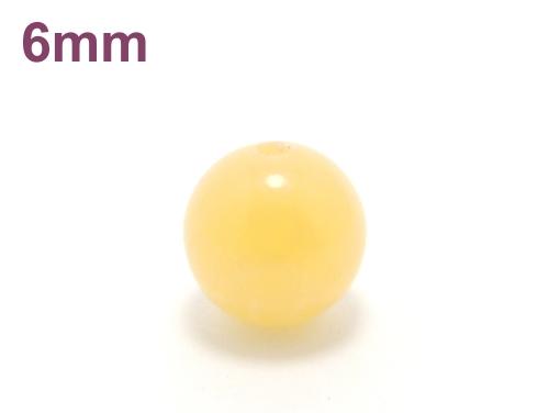 パワーストーン天然石ビーズ粒売り イエローカルサイト6ミリ 才能開花 ハンドメイド・手作りアクセサリー用 (11645)