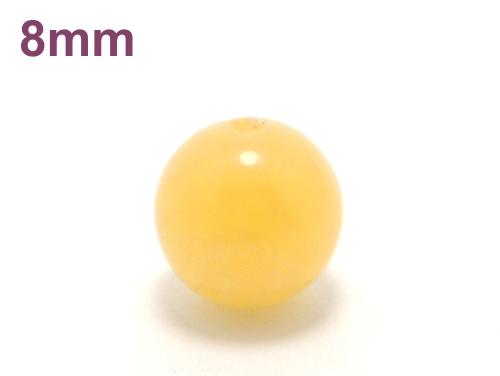 パワーストーン天然石ビーズ粒売り イエローカルサイト8ミリ 才能開花 ハンドメイド・手作りアクセサリー用 (11646)
