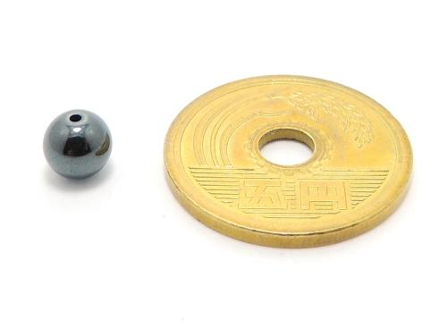 パワーストーン天然石ビーズ粒売り ヘマタイトAAAA6ミリ 健康・癒し ハンドメイド・手作りアクセサリー用 (11648)