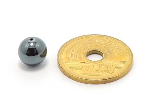 パワーストーン天然石ビーズ粒売り ヘマタイトAAAA8ミリ 健康・癒し ハンドメイド・手作りアクセサリー用 (11649)