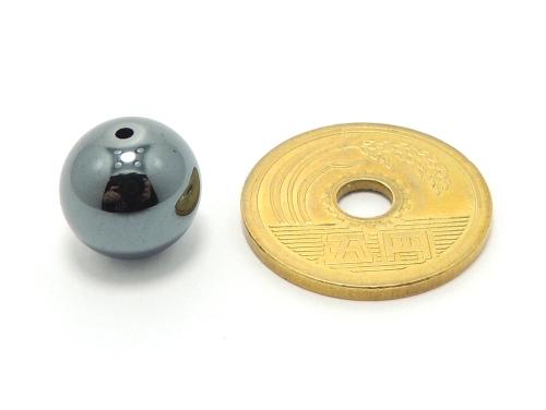 パワーストーン天然石ビーズ粒売り ヘマタイトAAAA12ミリ 健康・癒し ハンドメイド・手作りアクセサリー用 (11651)