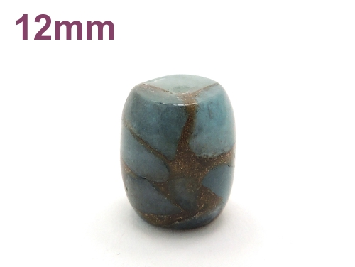アジアン・エスニックパワーストーン天然石ビーズ粒売り チベット金彩石(ライトブルー)AAAA12ミリ 金運 ハンドメイド・手作りアクセサリー用 (11654)