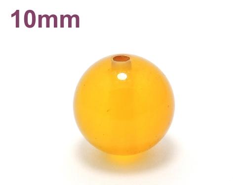 パワーストーン天然石ビーズ粒売り イエローカルセドニーAAAA10ミリ 対人関係 ハンドメイド・手作りアクセサリー用 (11662)