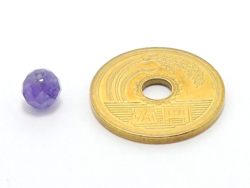 パワーストーン天然石ビーズ粒売り アメジストAAA(2月誕生日石)64面丸カット6ミリ 復縁・恋愛運 ハンドメイド・手作りアクセサリー用 (11669)