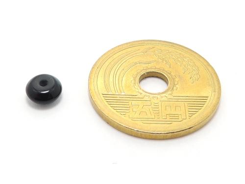 パワーストーン天然石ビーズ粒売り オニキスAAAA(8月誕生日石)ボタン6ミリ 魔除・厄除 ハンドメイド・手作りアクセサリー用 (11670)