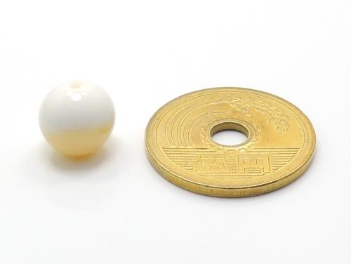 パワーストーン天然石ビーズ粒売り ゴールデンシャコガイAAAA10ミリ 魔除・厄除 ハンドメイド・手作りアクセサリー用 (11697)