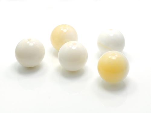 パワーストーン天然石ビーズ粒売り ゴールデンシャコガイAAAA12ミリ 魔除・厄除 ハンドメイド・手作りアクセサリー用 (11698)