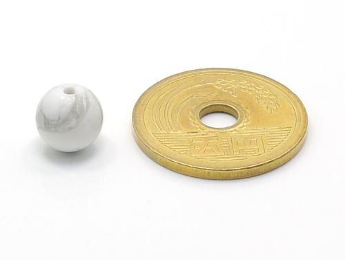 パワーストーン天然石ビーズ粒売り ホワイトハウライトAAAA8ミリ 健康・癒し ハンドメイド・手作りアクセサリー用 (11705)
